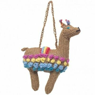 Llama - Knitted Ornament