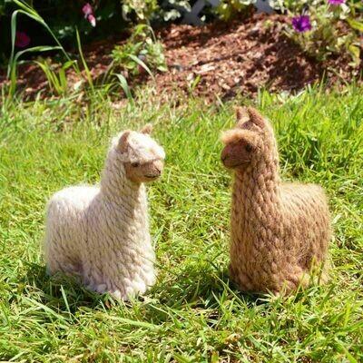 100% Baby Alpaca Figurine - Suri