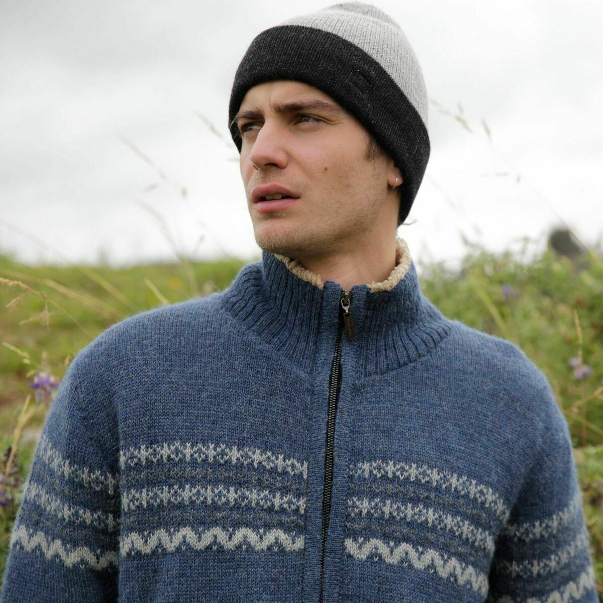 Men's Reversible Alpaca Hat