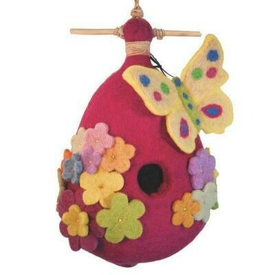 Felt Birdhouse - Butterfly