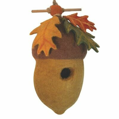 Felt Birdhouse - Pin Oak Acorn