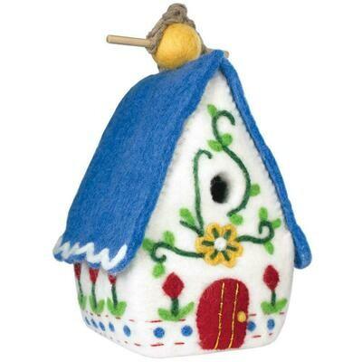Felt Birdhouse - Heidi Chalet