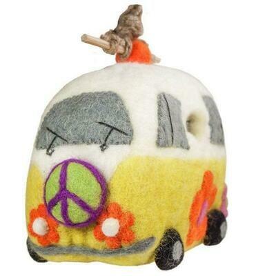 Felt Birdhouse - Magic Bus