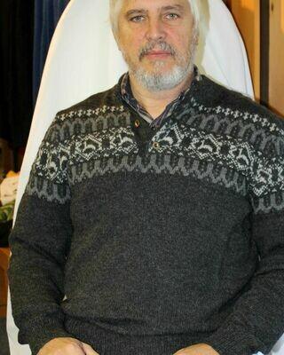 Men's Half Zip Ecoblend Alpaca Pullover