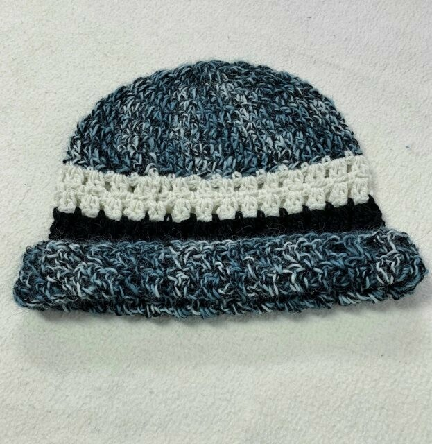 Teal Striped Alpaca Hat