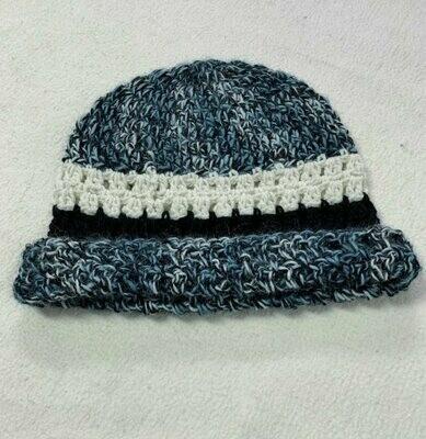 Teal Striped Alpaca Hat