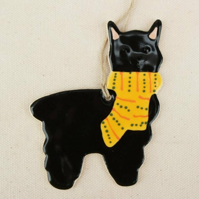 Black Alpaca Ornament