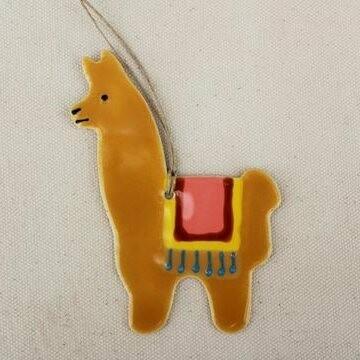 Fawn Llama Ornament