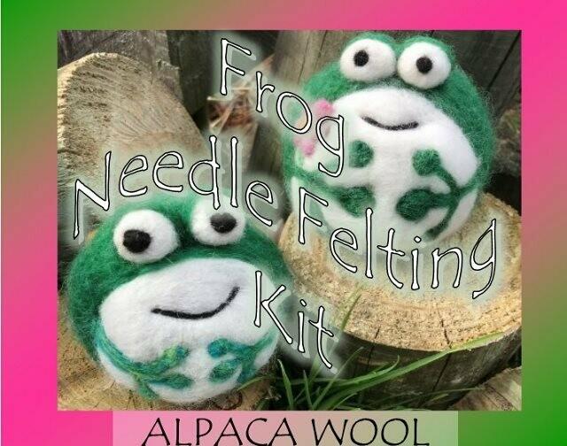 Frog Needle Felting Kit