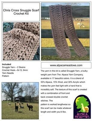 Crochet Kit - Chris Cross Snuggle Scarf