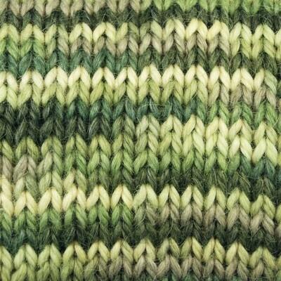 Snuggle Bulky Alpaca Blend Yarn - A Group of Greens