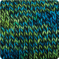 Hand-Dyed Swizzle Alpaca Yarn - Peacock AYC-071129