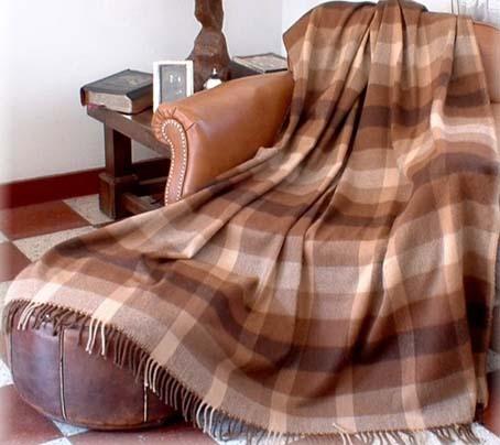 Alpaca Throw - Camel Plaid PL-081102
