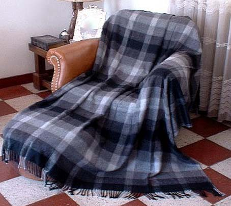 Alpaca Throw - Gray Plaid PL-081103