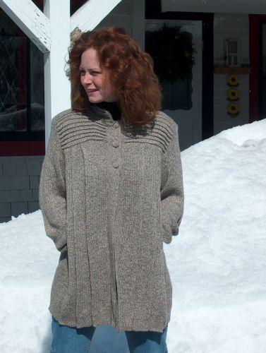 Alpaca Blend Pliegues Sweater