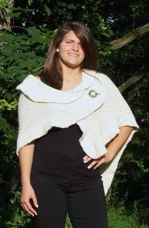 Sophie Reversible Shawl by Kristin Omdahl