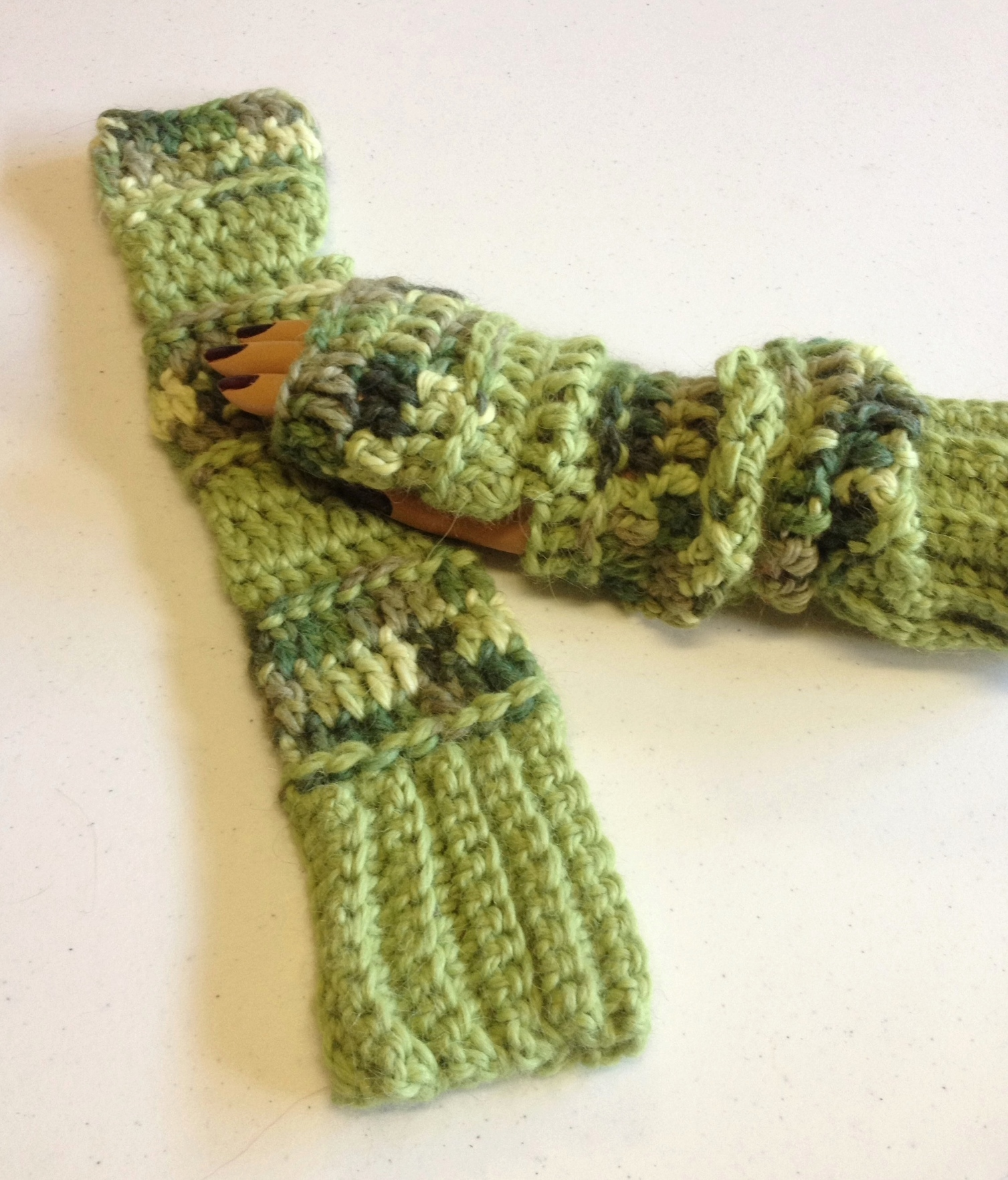 Extra Long Fingerless Gloves - Snuggle 00409