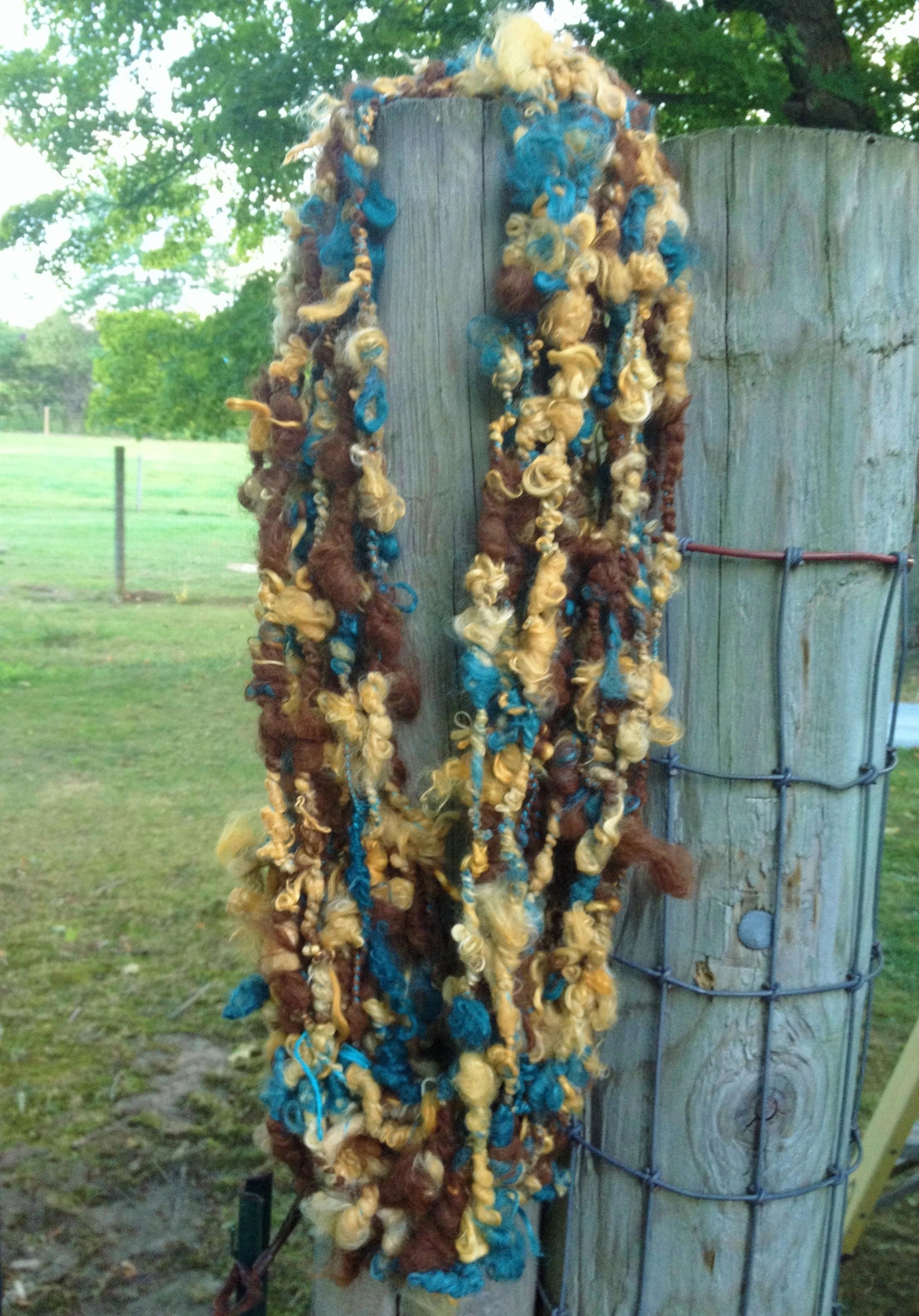 Suri Art Yarn - Cedar, Citrus, Medium Brown