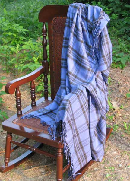 Alpaca Throw - Silver Pin Stripe