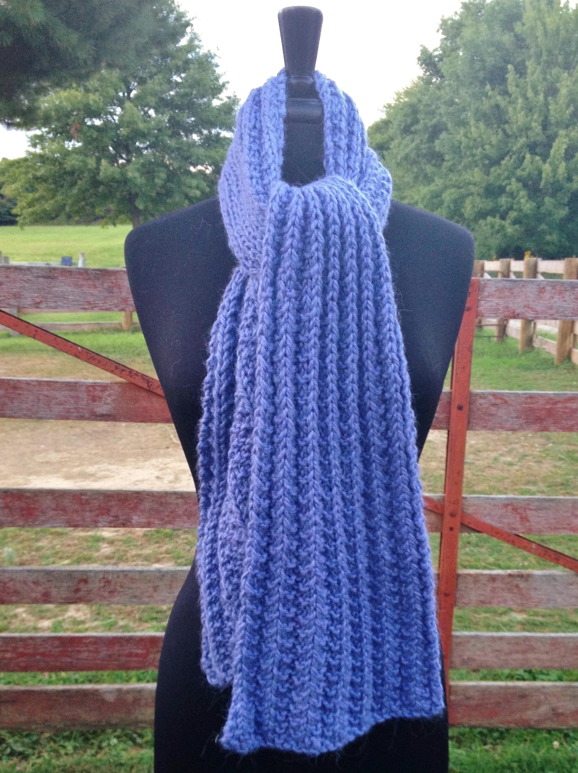 Bulky Ribbed Crochet Scarf 17694Wink