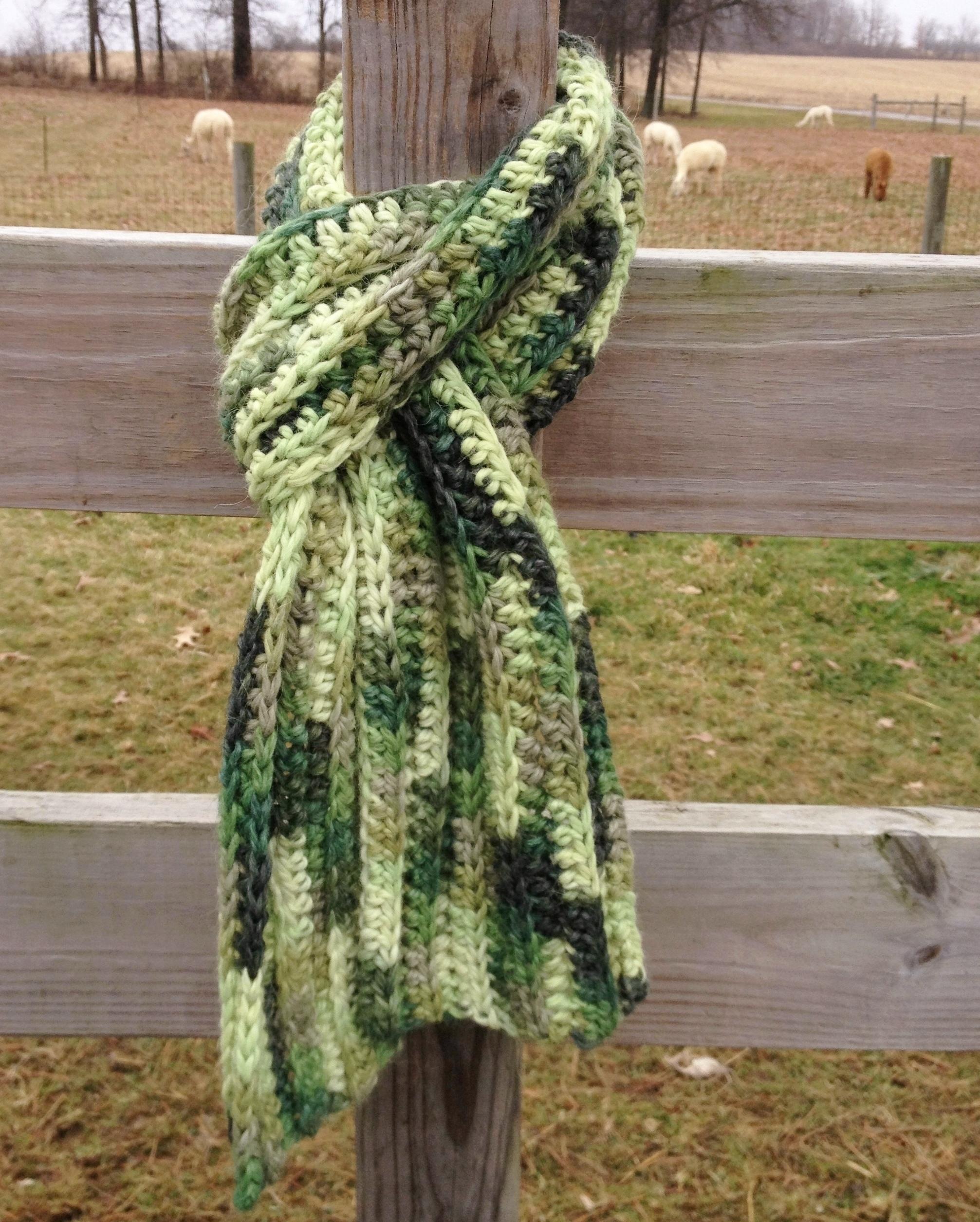 Bulky Ribbed Crochet Scarf BlkyRibCrScrf-Hndpts