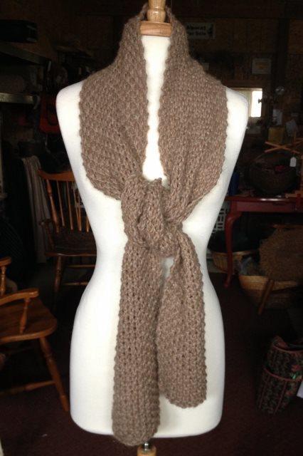 Seed Stitch Knit Scarf