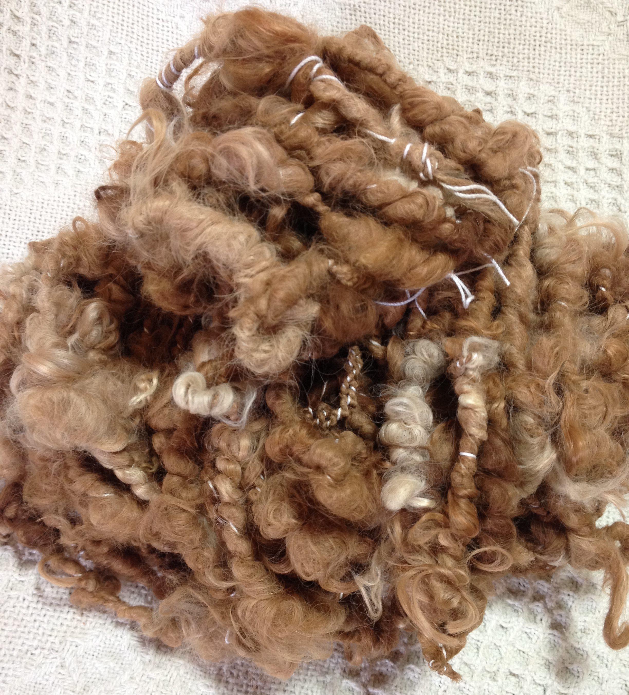 Suri Art Yarn - Natural Colors, Beige, Light Fawn, Medium Fawn