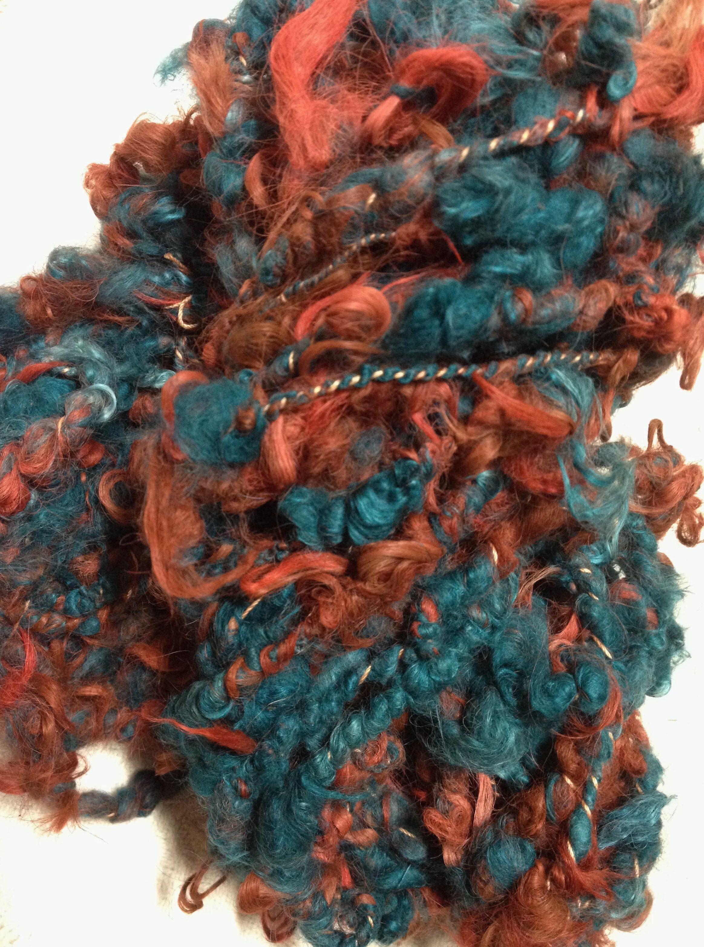 Suri Art Yarn - Cedar, Burnt Red