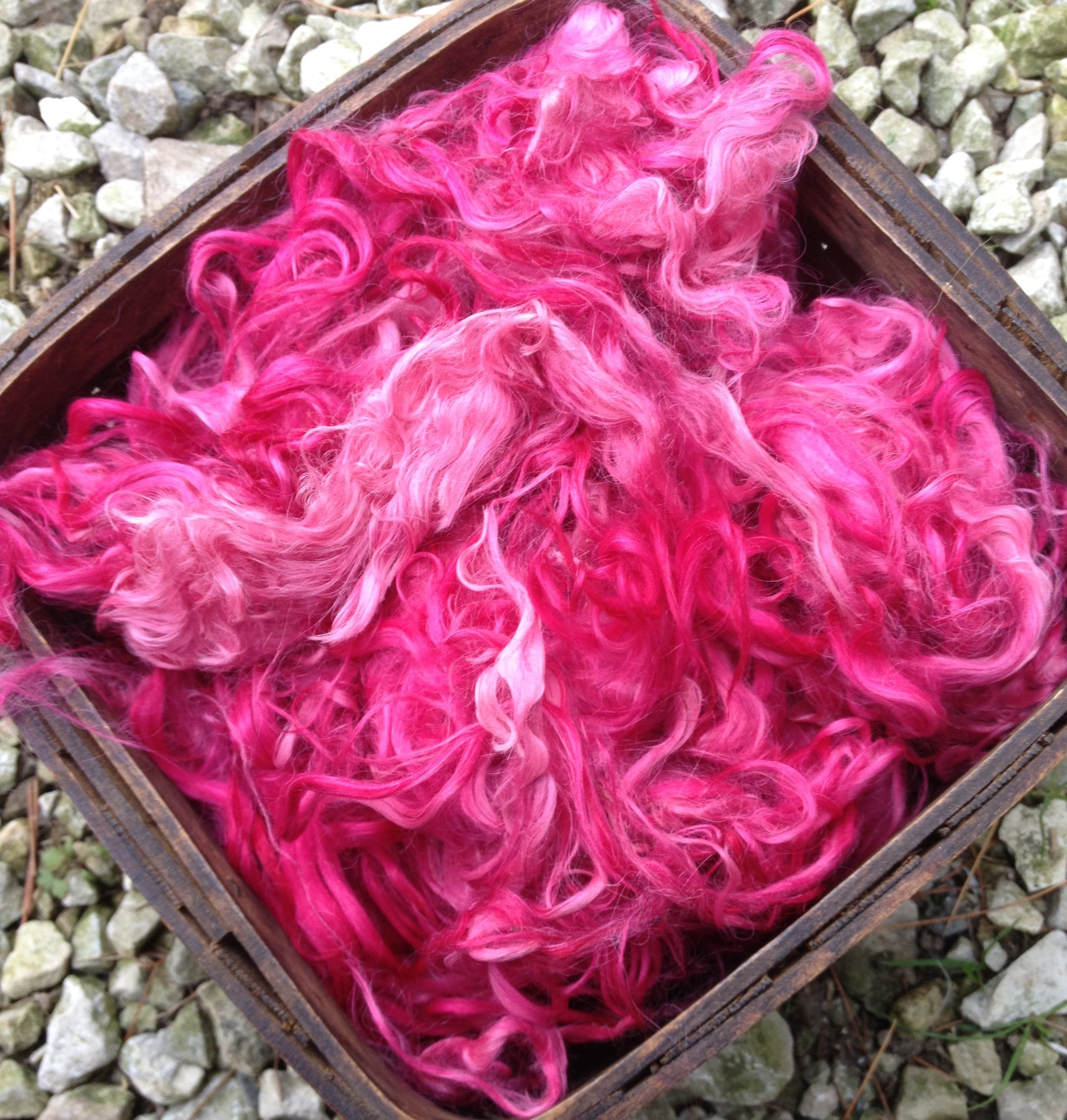 Hand-Dyed Suri Alpaca Fiber, 5.5 Inches, Orchid 17754