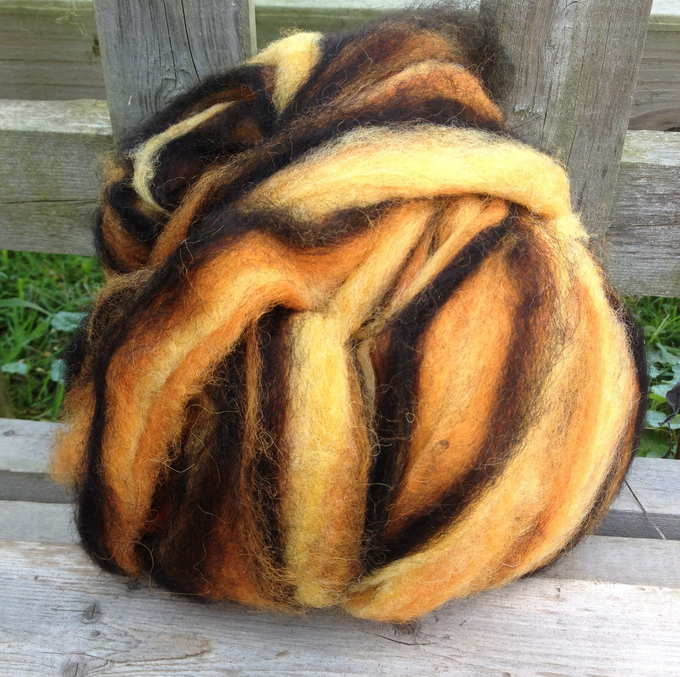 Alpaca Wool Roving - Fireside