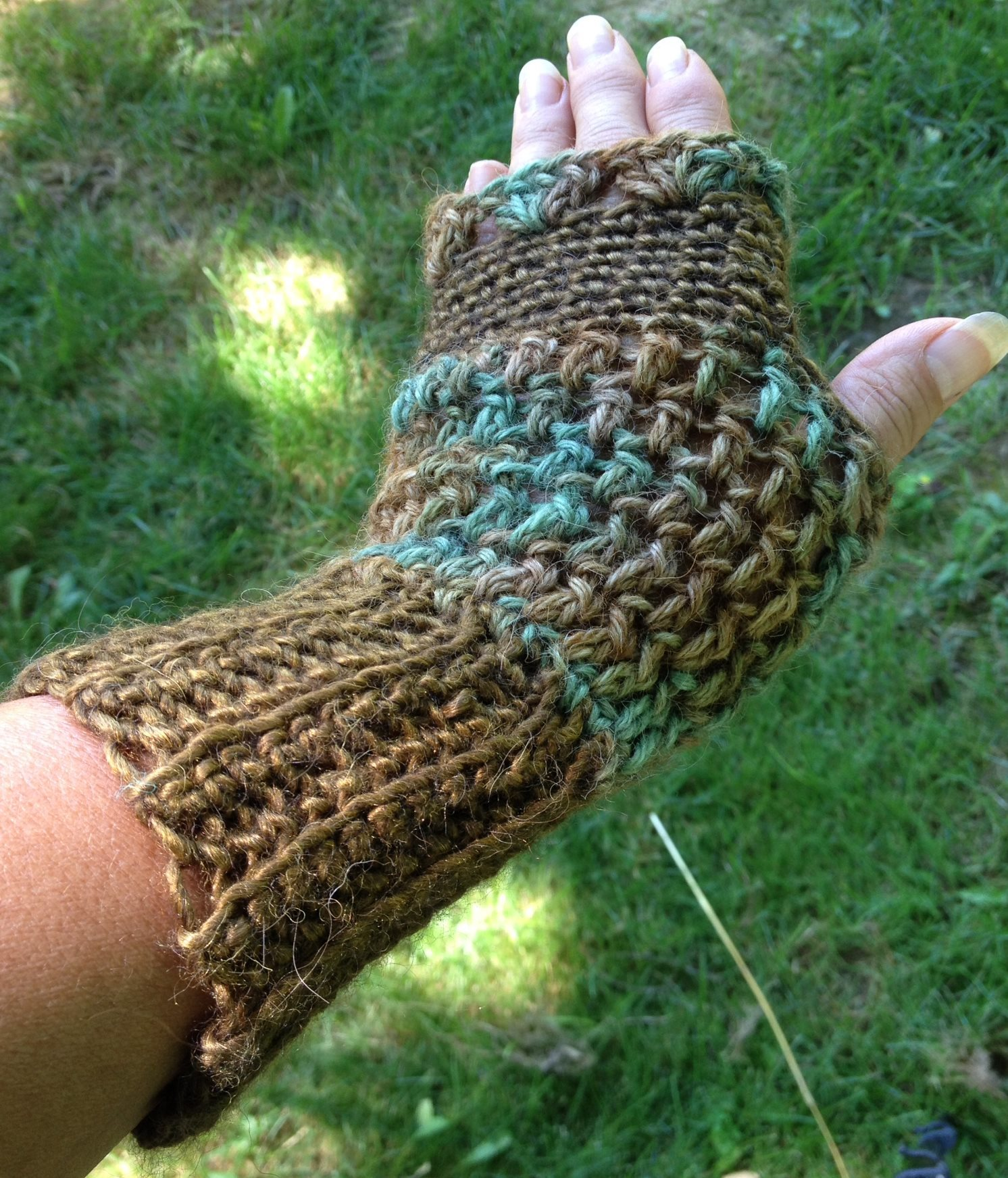 Deep Sea Fingerless Mitts - Made to Order 17796