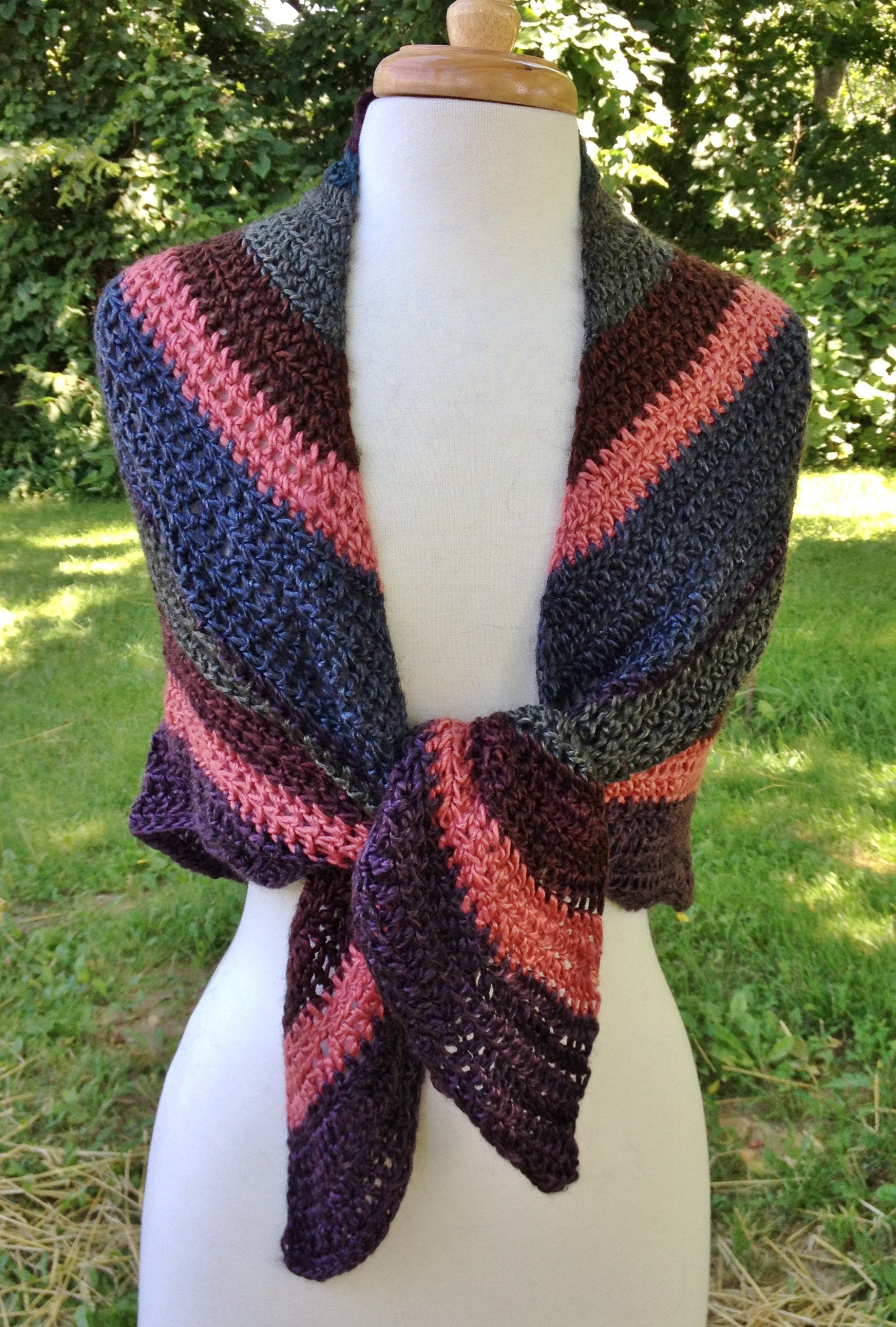 Striped Triangular Shawl