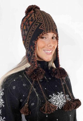 Ethnic Alpaca Hat Lined PL-091055