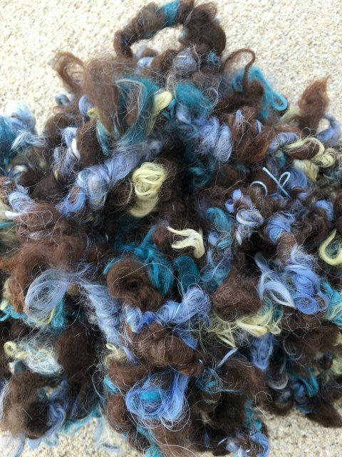 Alpaca Art Yarn - Lily, Ivy, Indigo, Dark Brown