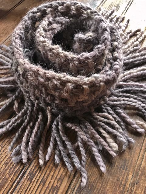 Chunky Fringed Infinity Scarf