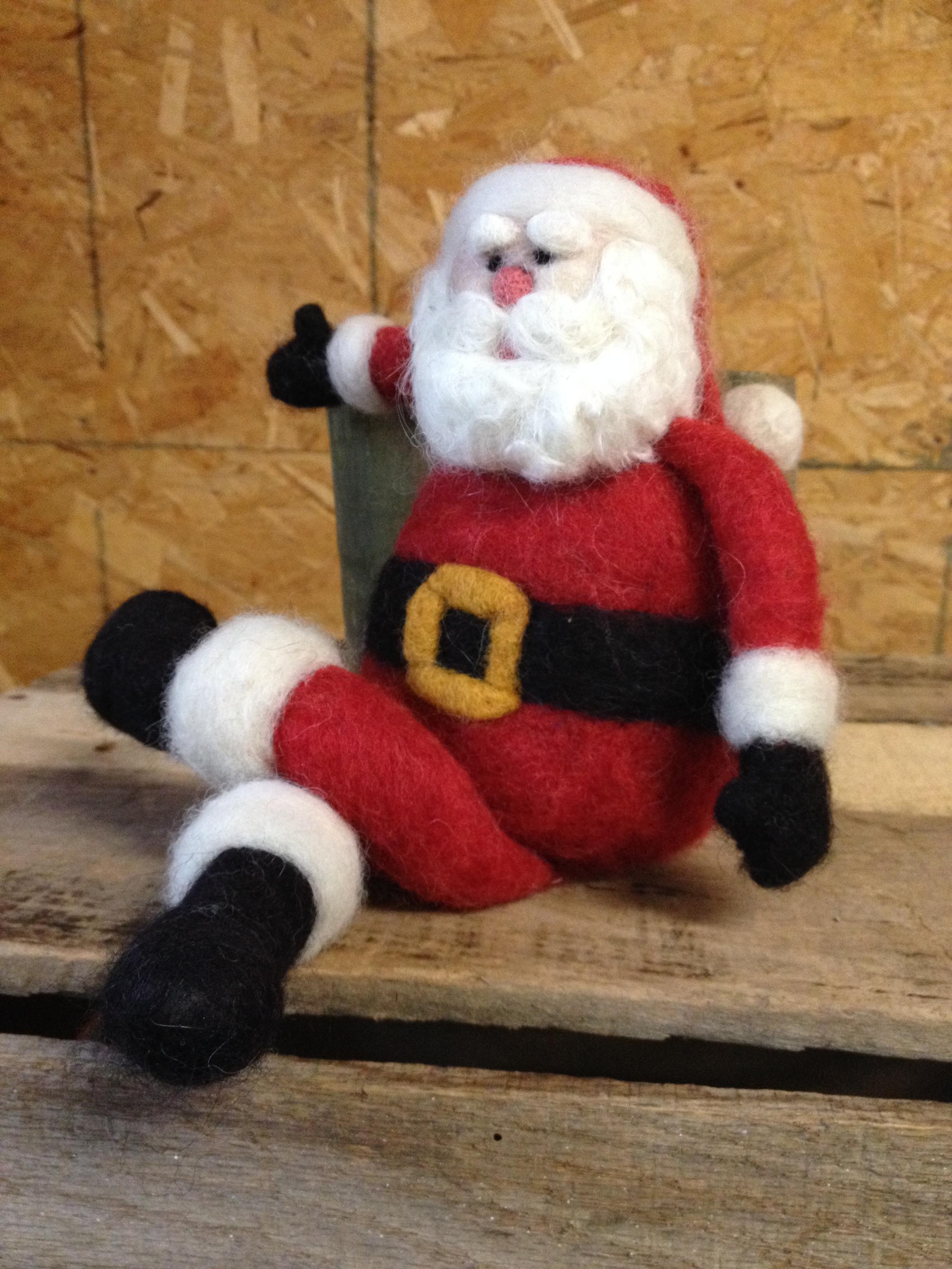 Santa Needle Felting Class