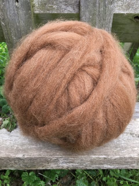 Alpaca Roving - Medium Fawn