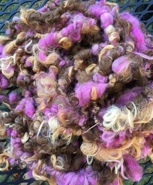 Alpaca Art Yarn - Cyclamen, Citrus, Dark Fawn 17946