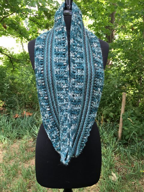 Alpaca Infinity Scarf - Totally Teal 17943