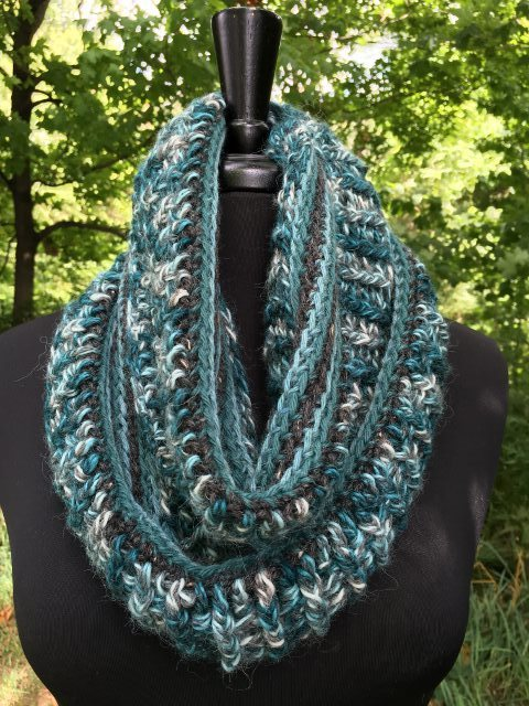 Alpaca Infinity Scarf - Totally Teal