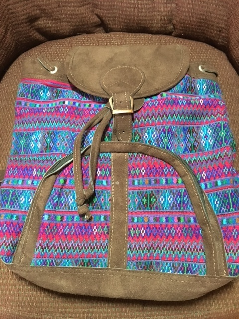 Handwoven and Leather Backpack