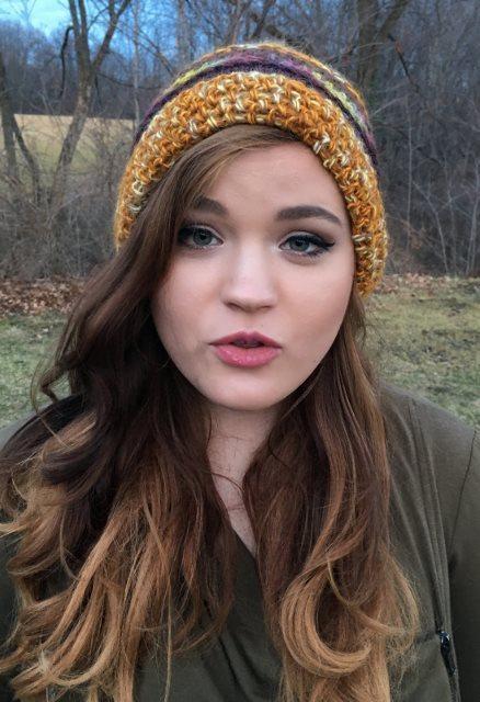 Striped Alpaca Hat