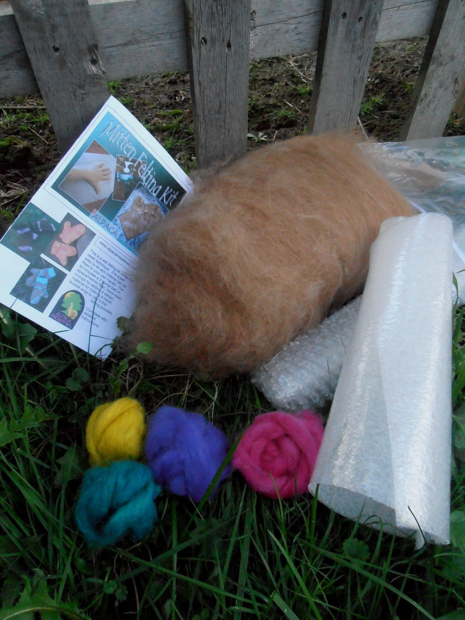 Alpaca Mitten Felting Supplies