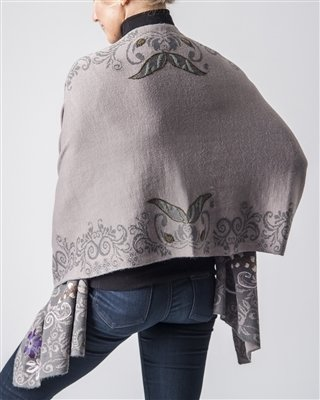 NEW Alpaca Embroidered Shawl