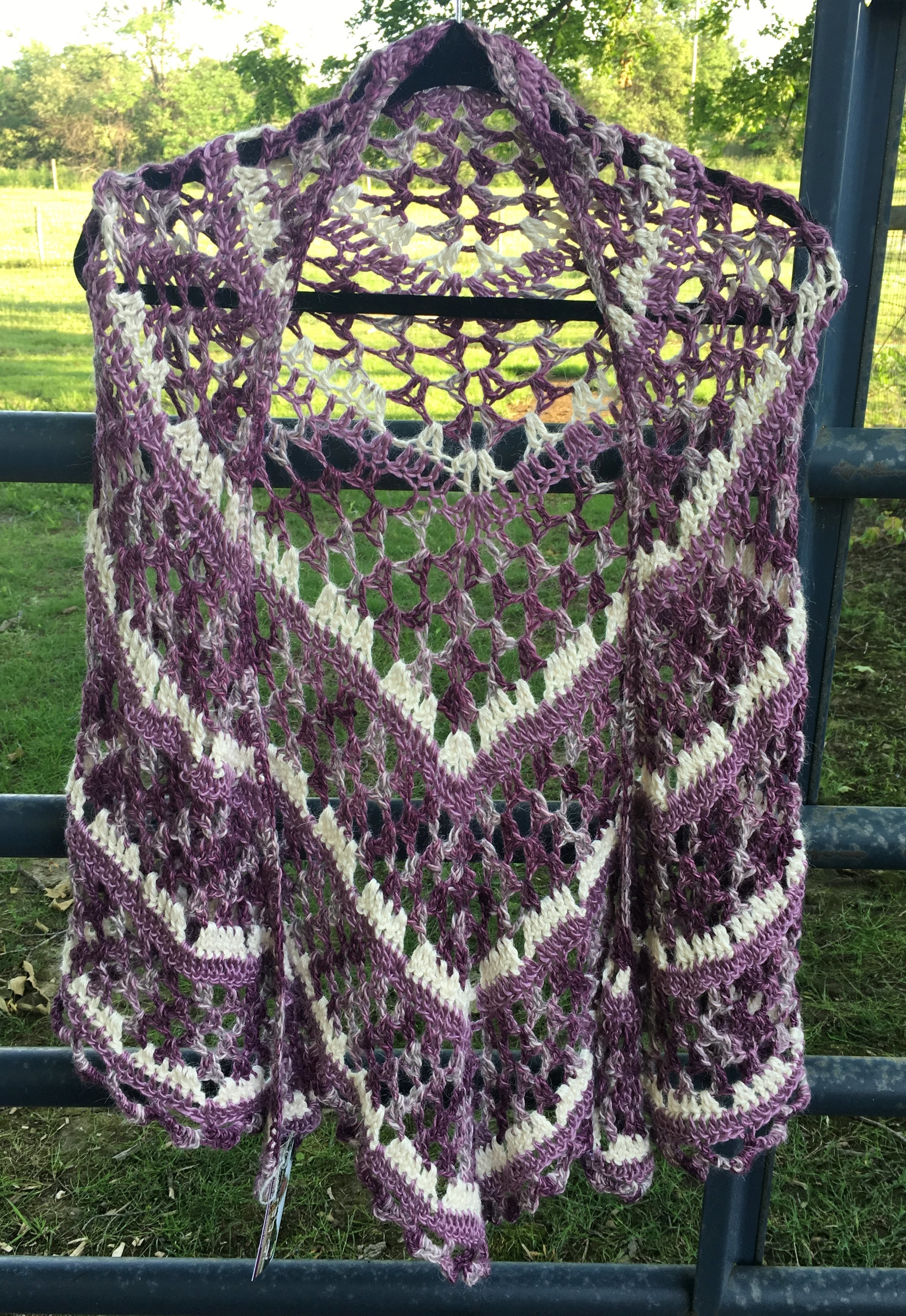 Purple Dixie Alpaca Charm Shawl 18095