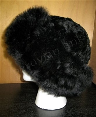 Alpaca Fur Hat - Exquisite Rich Black