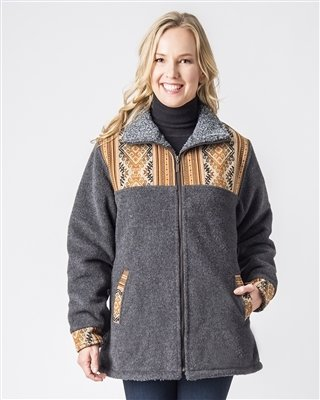 NEW Ladies Alpaca Barn Jacket 18116