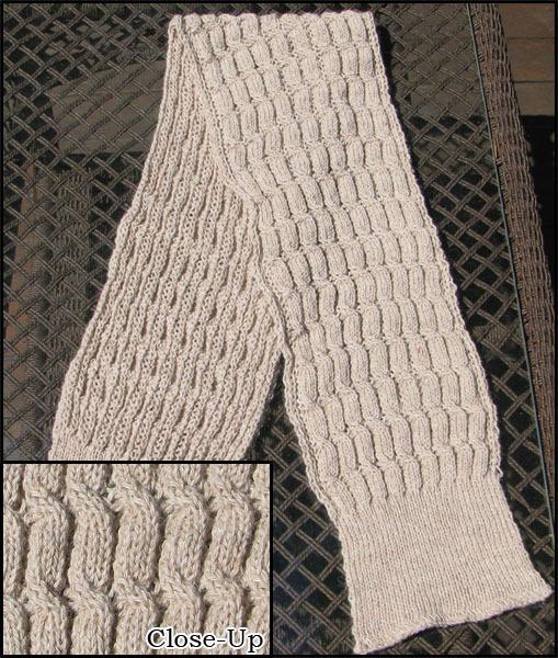 Cable Knit Alpaca Scarf