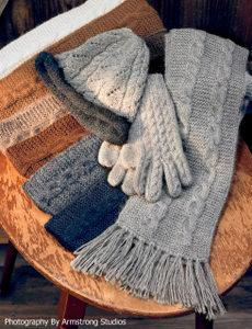 Trenza Cable Alpaca Gloves