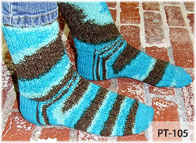 Carribean Chocolate Socks by Beth Lutz